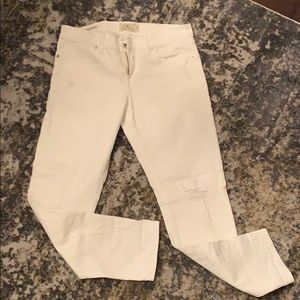 Lucky Brand White Distressed Jeans